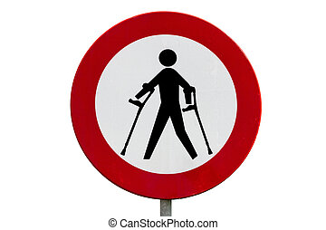 Prohibited for persons with reduced mobility