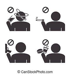 Prohibited icons.