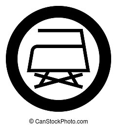 Prohibited Ironing is not allowed with steam Clothes care symbols Washing concept Laundry sign icon in circle round black color vector illustration flat style image