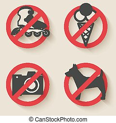 prohibited signs icons