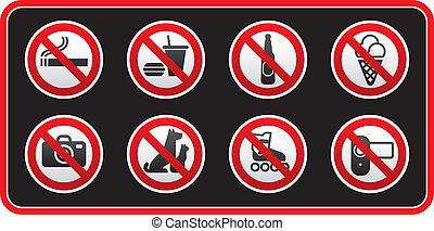 Prohibited Signs sticker