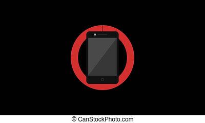 Prohibiting Sign. Hamburger. Mobile Phone. Camera. Rollers....