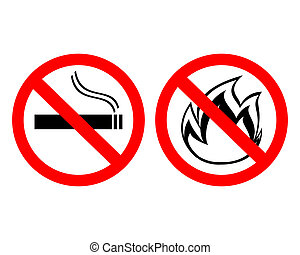 "prohibiting signs ""no smoking"""