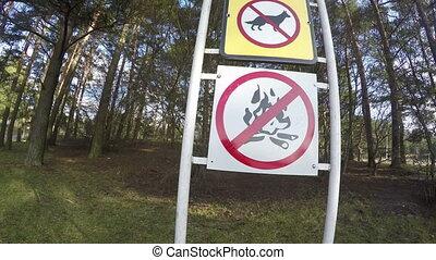 prohibiting signs resort