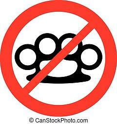 (prohibition, fingerknöchel, verboten, zeichen, messing, icon)