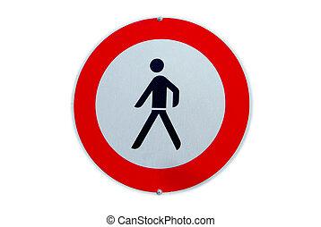 prohibition for pedestrians