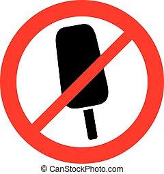 (prohibition, ghiaccio, segno, conceduto, non, icon), crema