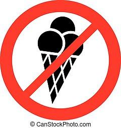 (prohibition, ghiaccio, segno, cono, conceduto, non, icon), crema