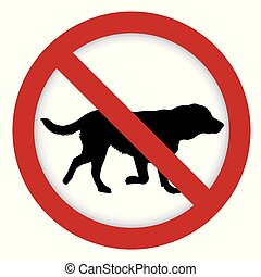 prohibition, illustration, signe, chien
