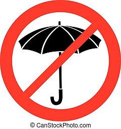(prohibition, non, parapluie, icon), signe