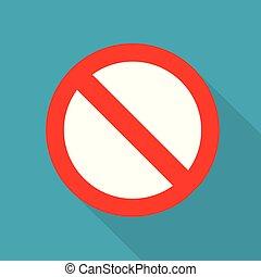 prohibition sign icon- vector illustration