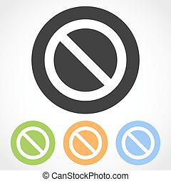 Prohibition sign icons. Vector illustration
