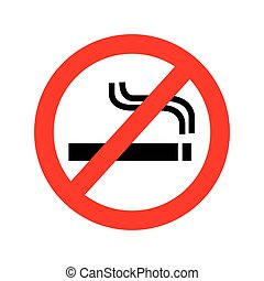 prohibition sign isolated icon