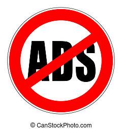 prohibition sign no ads