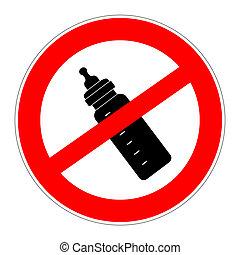 prohibition sign no artificial nutrition