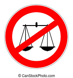 prohibition sign no justice
