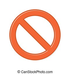 Prohibition Sign on White Background. Vector