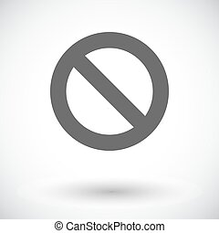 Prohibition sign.