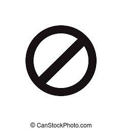 prohibition sign, web icon. vector design