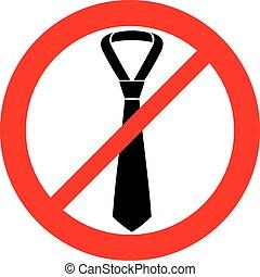 (prohibition, signo negocio, permitido, no, corbatas, macho,...