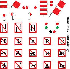 prohibitory, 水路, サイン