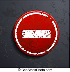 prohibitory road sign
