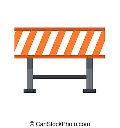Prohibitory road sign icon, flat style