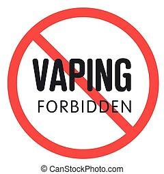 prohibitory sign vaping