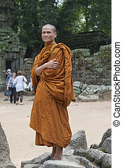 prohm, moine bouddhiste, cette