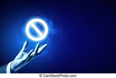 proibição, ícone