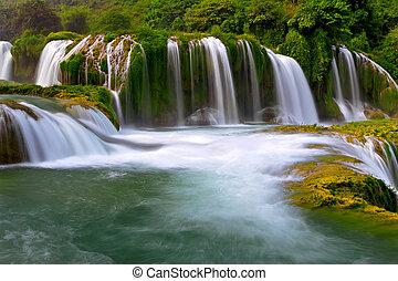 proibição, gioc, cachoeira, em, vietnã