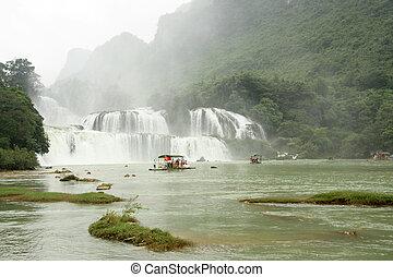 proibição, gioc, ou, detian, cachoeira