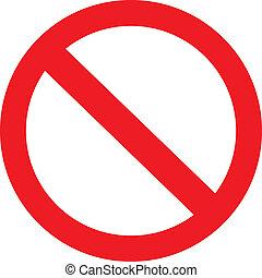 proibição, sinal