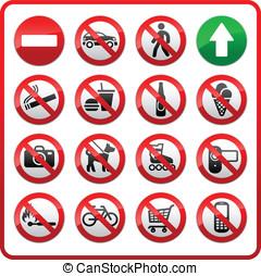 proibido, jogo, símbolos