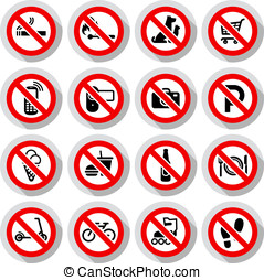 proibido, símbolos, jogo