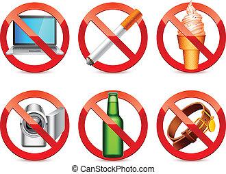 proibido, signs.