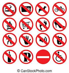 proibido, sinais