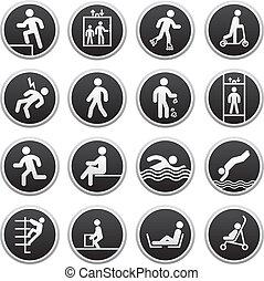 proibido, sinais, vetorial