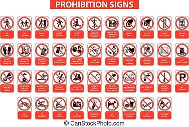 proibizione, segni