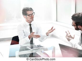 project., affari, personale, idee, nuovo, discutere