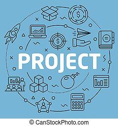 Project Blue Lines Illustration for prsentation