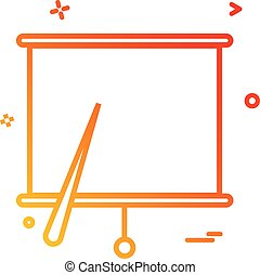 project chart office icon vector design