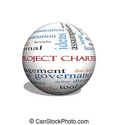 Project Charter 3D sphere Word Cloud Concept