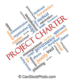 Project Charter Word Cloud Concept Angled
