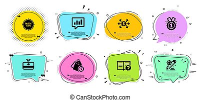 Project edit, Time management and Approved icons set. Tips, ...