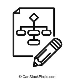 project flowchart vector illustration design