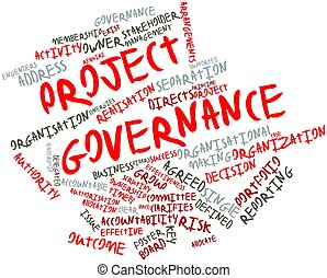 Project governance - Abstract word cloud for Project...