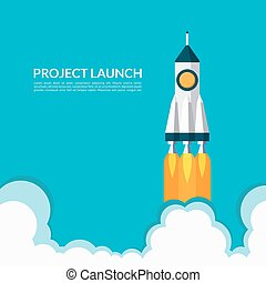 Project launch. Start up concept