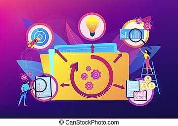 Project life cycle vector illustration