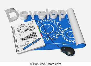 Blueprint development project as concept